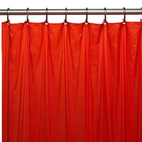 Park Avenue Deluxe Collection Park Avenue Deluxe Collection Premium 4 Gauge Vinyl Shower Curtain Liner w/ Weighted Magnets and Metal Grommets in Red