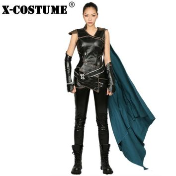 X-COSTUME PU Leather Suit Thor: Ragnarok Valkyrie Cosplay Costume High Quality Products for Superwoman Anime Cosplay Kawaii Pokemon go  AT_89_9