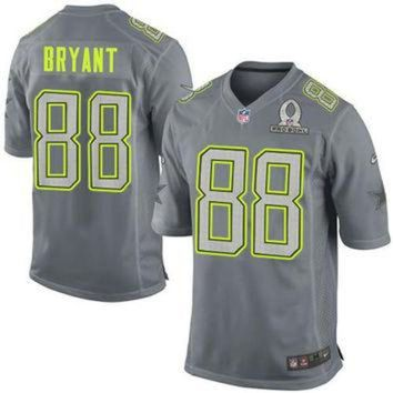 DCCK8X2 Nike Cowboys #88 Dez Bryant Grey Pro Bowl Men's Stitched NFL Elite Team Sanders Jersey