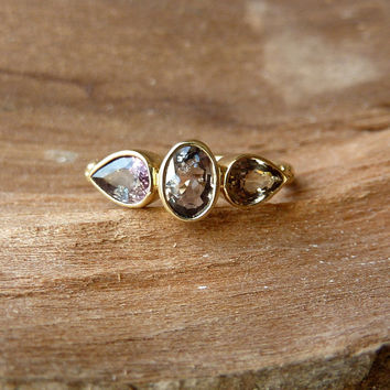 Oval and Pear Sapphire Ring