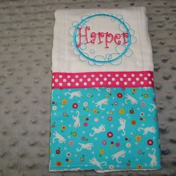 Harper Personalized Burp Cloth Premium quality Boutique style Burp Cloth