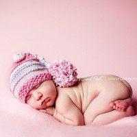 Sale -- Baby Elf Hat - Hand Knit Ca.. on Luulla