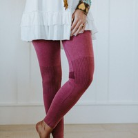 Moto Knee Legging - Berry