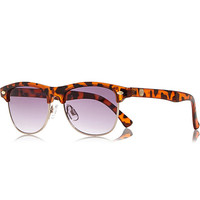 River Island Boys brown tortoise shell retro sunglasses