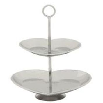 Eye-Catching 2 Tier Steel Tray Stand