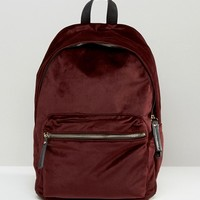 New Look Velvet Backpack at asos.com