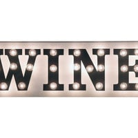 "Marquee Light-Up ""Wine"" Sign, Signs"