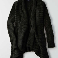 AEO Textured Cocoon Sweater, Olive