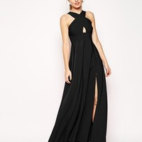 ASOS Cross Front Super Full Maxi Dress