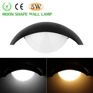 5W Moon Shape LED Wall Lamp Night Light for Theater KTV Bar Showcase Restaurant Gallery Living Room Indoor Places