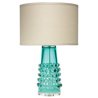 Jamie Young Company 1RIBB-TALB-2DRUM-235M Ribbon Lake Blue One-Light Title 24 Table Lamp with Medium Drum Shade