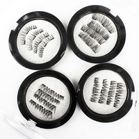 3 magnetic eyelashes makeup 2 para/kit false eyelashes extension magnetic eyelash lash Hardcover box magnetic eyelash