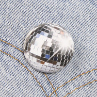 Disco Ball 1.25 Inch Pin Back Button Badge