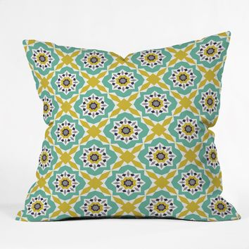Heather Dutton Mattonelle Throw Pillow