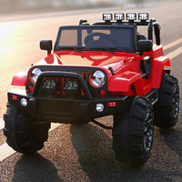 Jeep Style 12V Kids Ride-On Car with R/C Parental Remote | Red