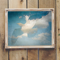 Vintage Style Bird & Cloud Wall Art Printable Beach Decor Coastal Decor Instant Download 8x10 11x14 Baby Nursery Teen Room Wall Art Dorm