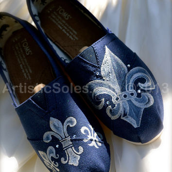 Custom Wedding TOMS by Artistic Soles - Fleur De Lis