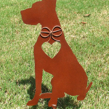 Great Dane Dog Metal Garden Stake - Metal Yard Art - Metal Garden Art - Pet Memorial 2