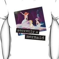 secretly a mermaid Women's T-Shirt