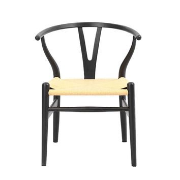 Wishbone Chair CH24 Y Chair - Black/Orange/Pink/Yellow/Red - Reproduction