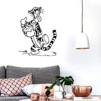 Wall Stickers Vinyl Decal Winnie The Pooh Cartoon Funny Decor Kids Room (ig1044)