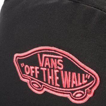 VANS REALM Backpack Book Bag Black-Pink 482406-BK (VN-0NZ0EGQ)