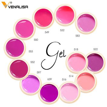 Venalisa 180 color 5ml nail art design uv led gel lacquer soak off color uv led paint enamel nail polish gel lacquer varnish gel