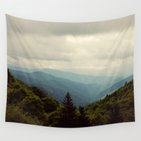 THE LIGHT THROUGH THE CLOUDS Wall Tapestry by Erin Johnson
