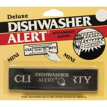 HIC Deluxe Dishwasher Alert with Adhesive Backing - Non-Magnetic Clean or Dirty Sign
