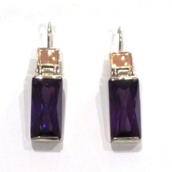 Silver and Amethyst Earrings by Leonid Vlad