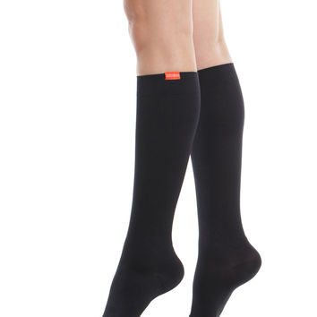 Women's Solid: Black (Moisture-wick Nylon)