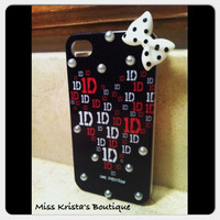 One direction iphone 4 case hard cover I love one direction 1D gift