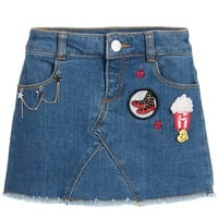 Little Marc Jacobs Girls Denim Skirt With Patches (Mini-me)