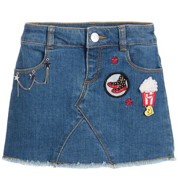 Little Marc Jacobs Denim Skirt With Patches (Mini-me)