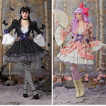 Lolita Dress Pattern, Fantasy Costume Pattern, New Simplicity 1300, Plus Size Pattern