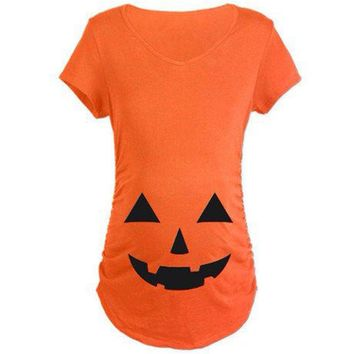 Women's Pumpkin Maternity Tshirt