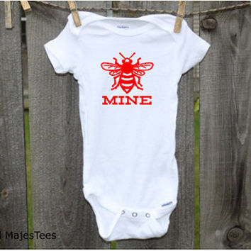 Bee Mine Valentine Onesuits®, 1st Valentines Day, Bumble Bee
