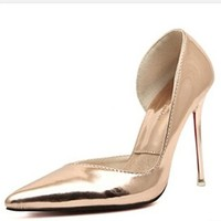 Women's Sexy Shoes Closed Toe High Heels Pointed Slender Pumps Sandals