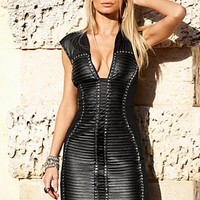 Black Dress with faux leather from VENUS