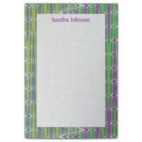 Colorful pink green yellow pattern post-it® notes