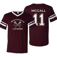 Adult Teen Wolf Beacon Hills Lacrosse Mccall 11 Jersey