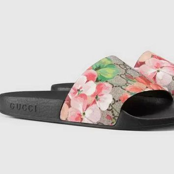 Gucci £ºCasual Fashion men and women Sandal Slipper Shoes-2