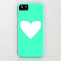 Mint Heart iPhone & iPod Case by M Studio