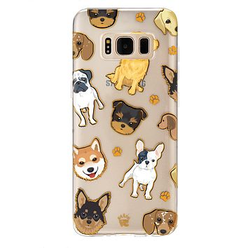 Dog Clear Samsung Galaxy Case