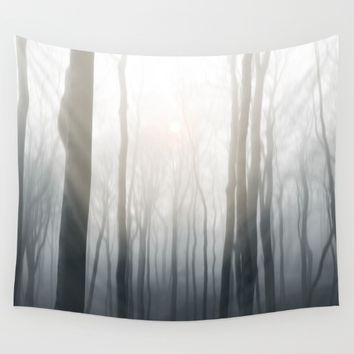 Foggy morning Wall Tapestry by Viviana Gonzalez