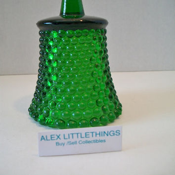 Vintage Emerald Green Glass Votive Cup Hobnail Candle Holder