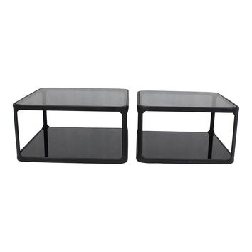 Branco Cocktail Table Set Of Two Black