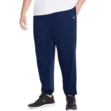 Champion Big & Tall Men's Jersey Pants with Elastic Bottom