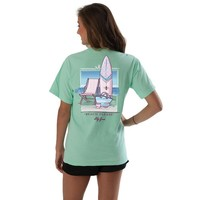 Beach Please Tee in Island Reef  by Lily Grace