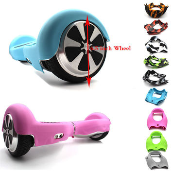 New 2 Pcs Hoverboard Silicone Soft Flexible Foldable Protective Case Cover for 6.5 Inch Self Balance Electric Standing Scooter